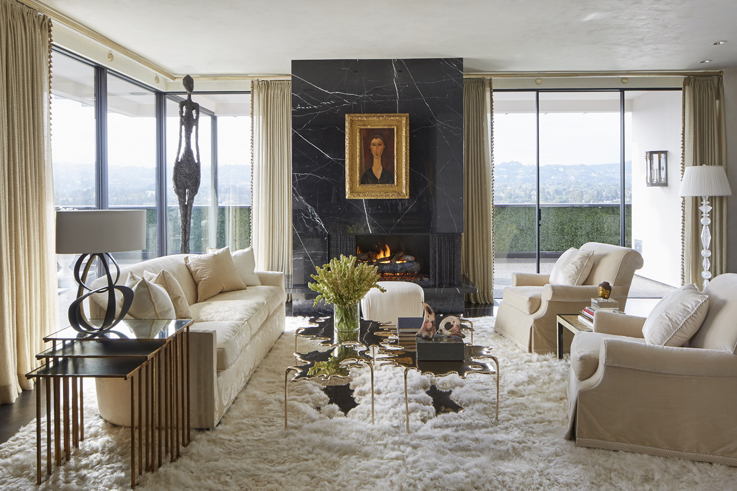 FCA Wilshire Penthouse Living Room