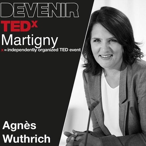Journaliste, productrice et mère de deux enfants, Agnès Wuthrich Stevens est aussi marraine de La Montheysanne depuis sa création il y a huit ans, une association qui accompagne et soutient les personnes touchées par le cancer – et en particulier les femmes victimes du cancer du sein.  #tedxmartigny #tedx  #oratrice  #mymartigny