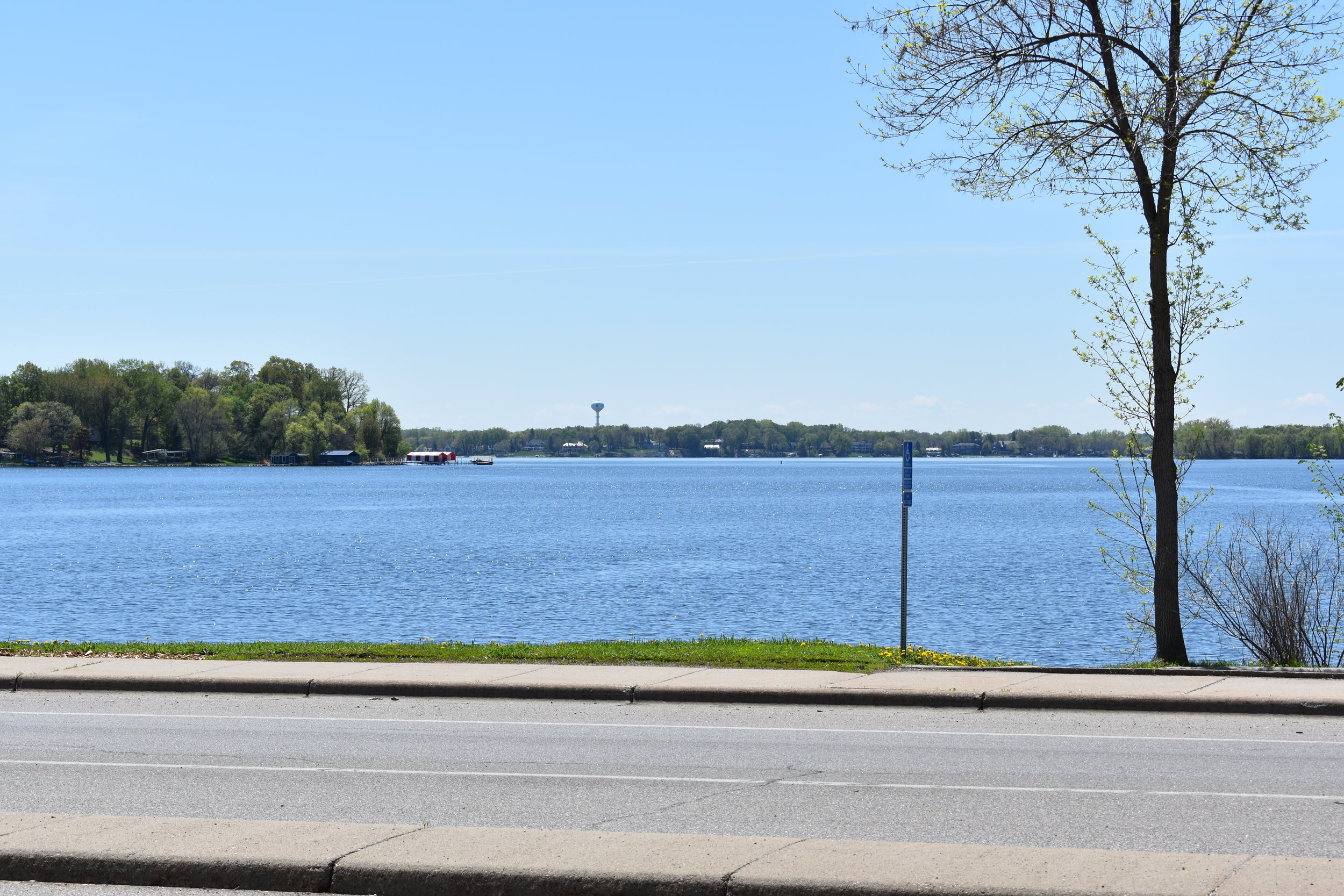 View of Lake Minnetonka out the front
