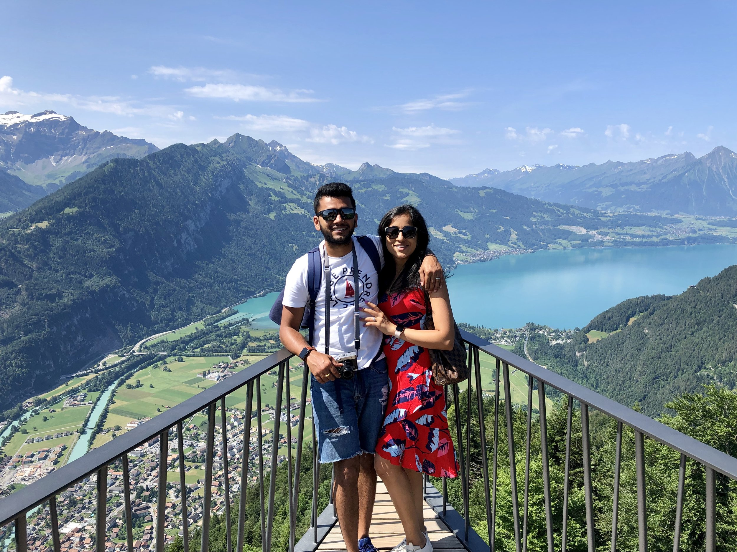 With Meera, at the top of Harder Kulm