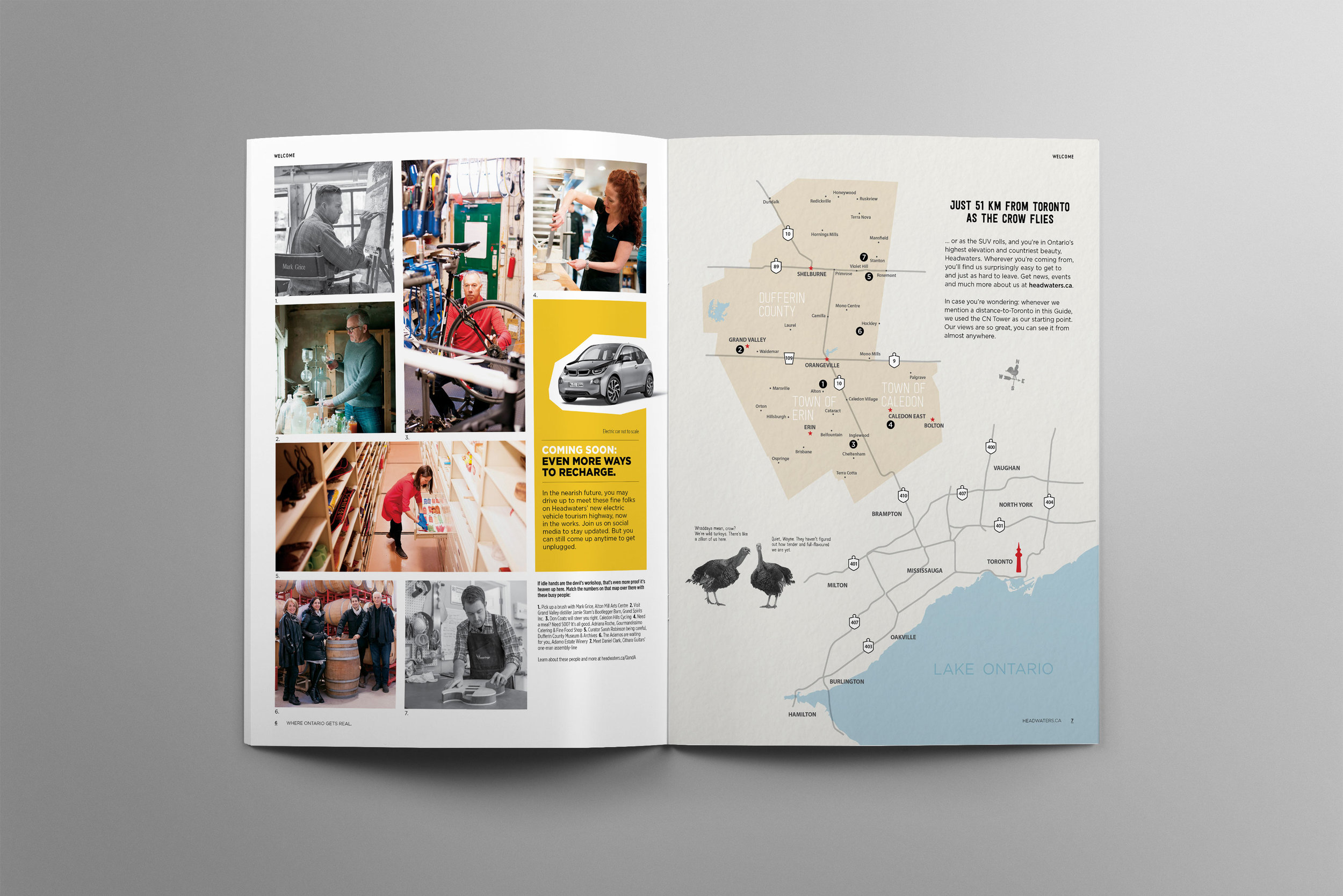 Just 40 minutes north of Toronto, this illustrated map shows visitors what there is to do in rural Ontario in your day trip.