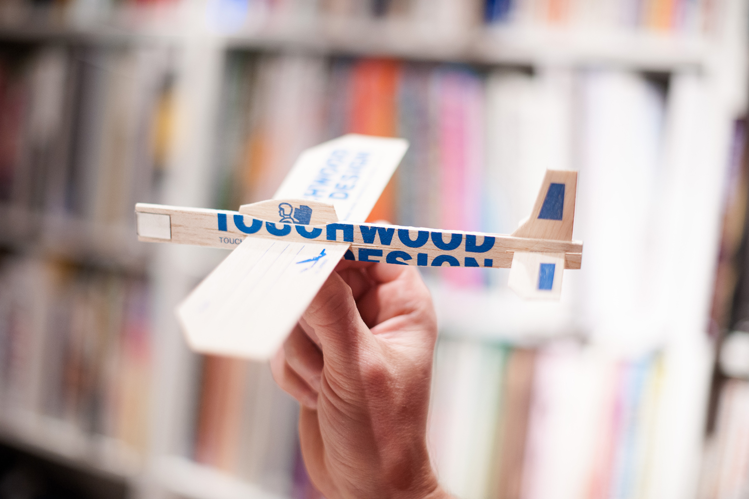 Touchwood Design's model plane delivers nostalgia along with a message to their clients.