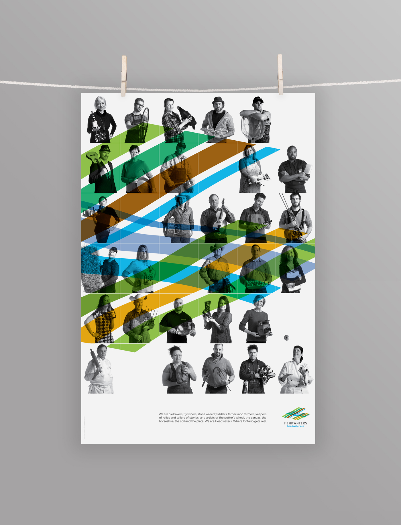 Headwaters Tourism poster featuring some of it's markers, artists and farmers. These astounding people call Erin, Caledon, Shelburne, Dufferin and Mono their home!