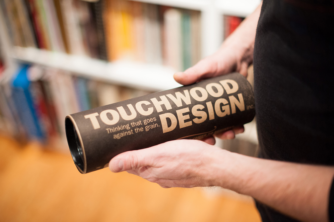 Touchwood Design Candle packaging paper tube. Thinking that goes against the grain.