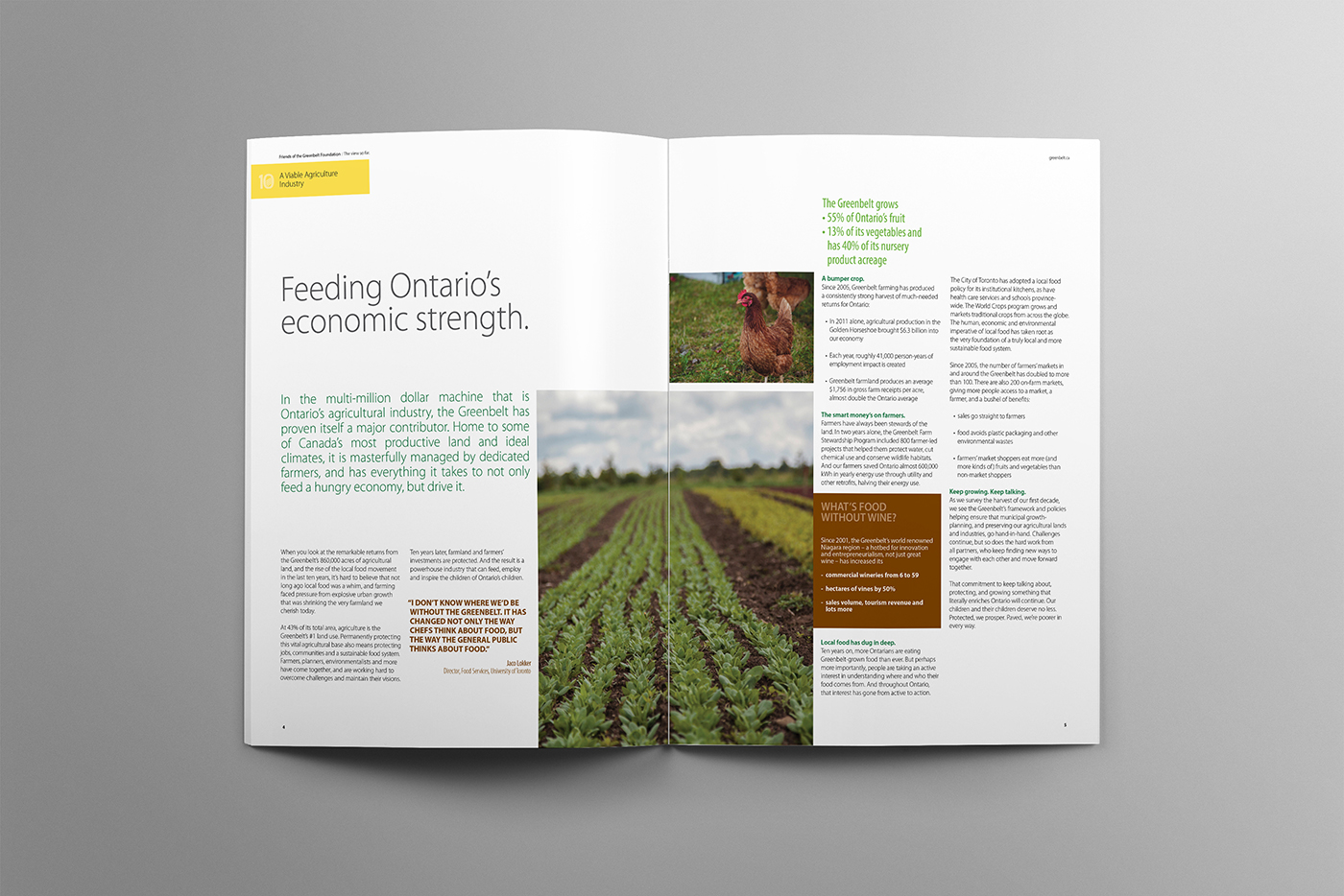 Farms feed cities design spread. Capturing the importance farmers bring to our lives.