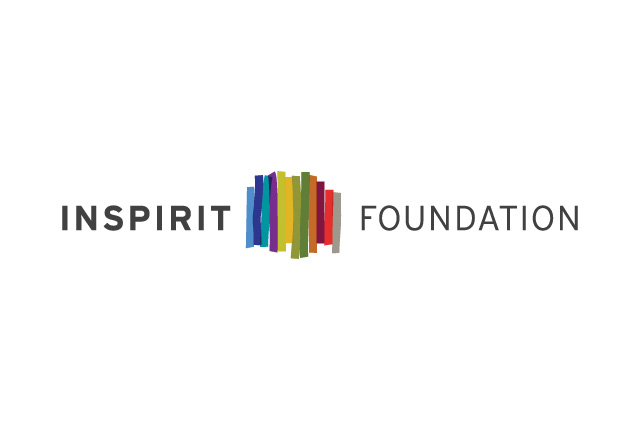 Brand Identity for Inspirit Foundation who support young people in creating a more inclusive Canada. A colourful logo, representing people of all types. Makes for a clean and inspired logo.
