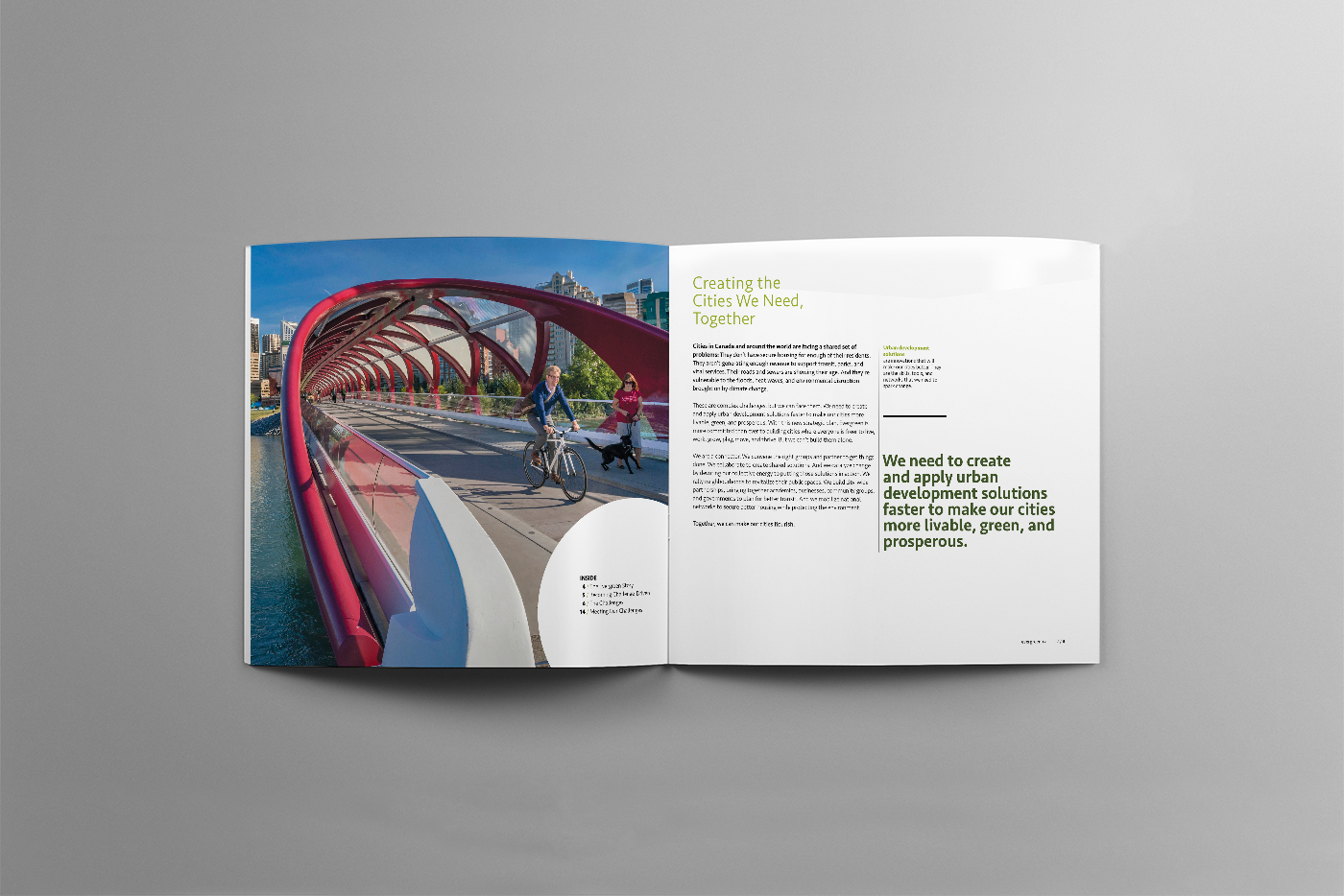 Booklet design for Evergreen by Touchwood Design in Headwaters, Ontario, Canada.