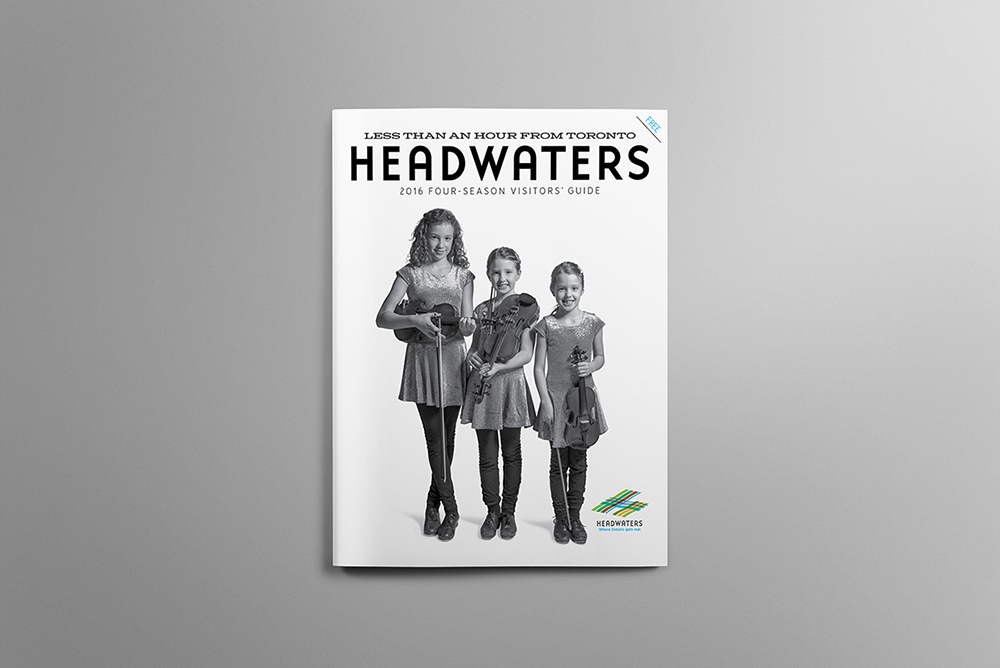 A cover for a book that highlights the makers and creators of Headwaters, Ontario.