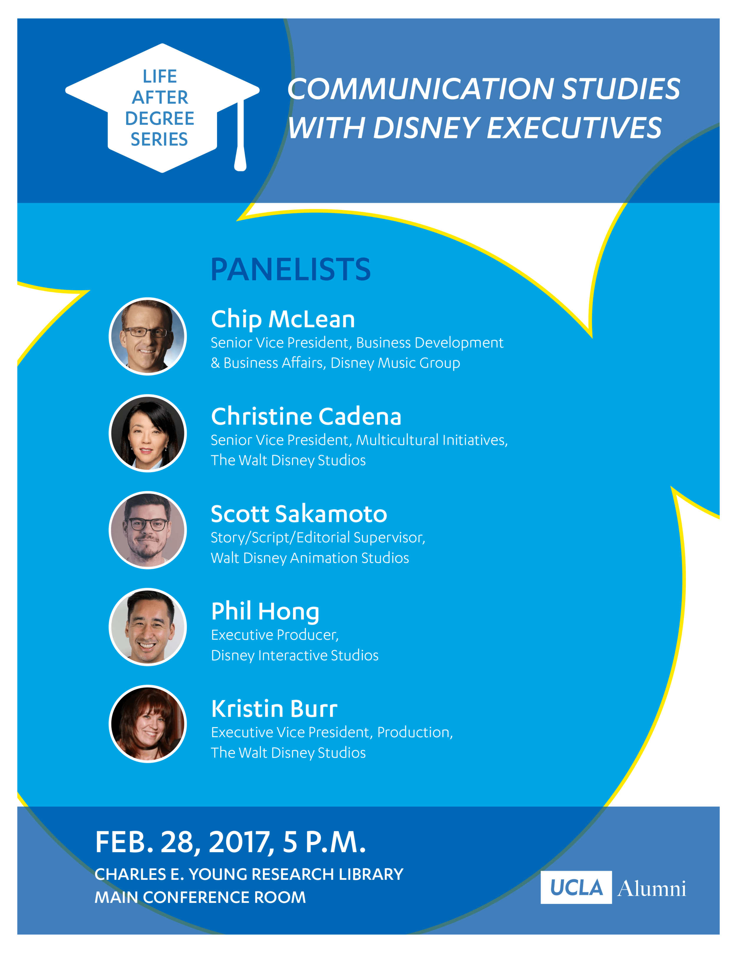 One of many co-branded deliverables. This poster was for a networking event at Disney for bruins.