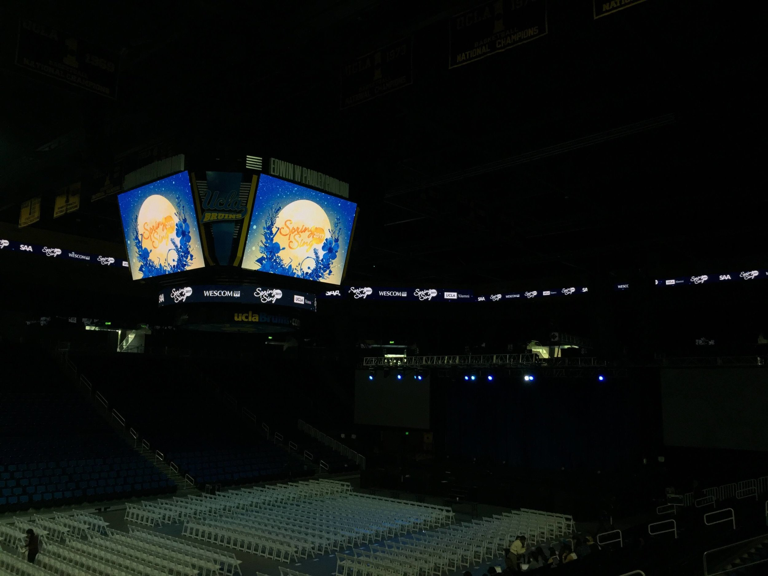 One of several animated jumbotron and ribbon graphics made for Pauley Pavilion.