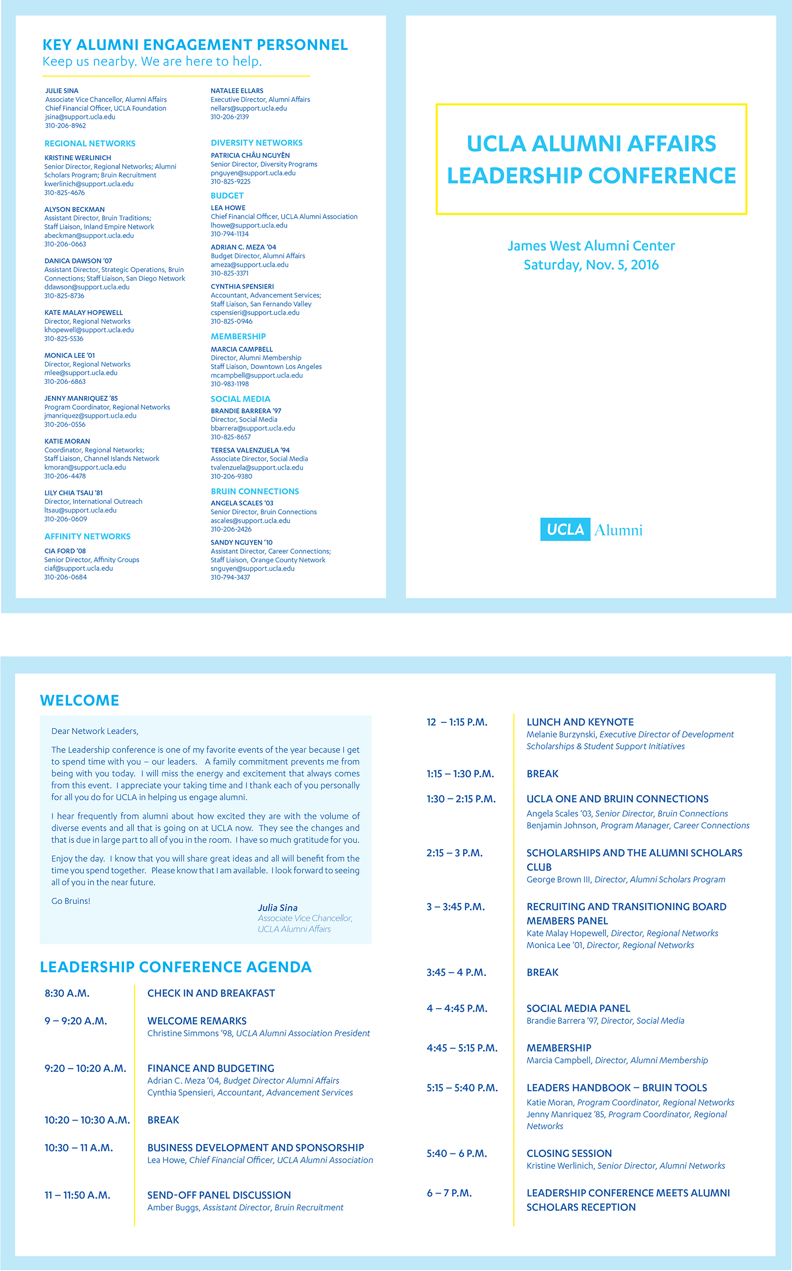 An adaptable agenda template, designed to work for multiple events rather than a single use.