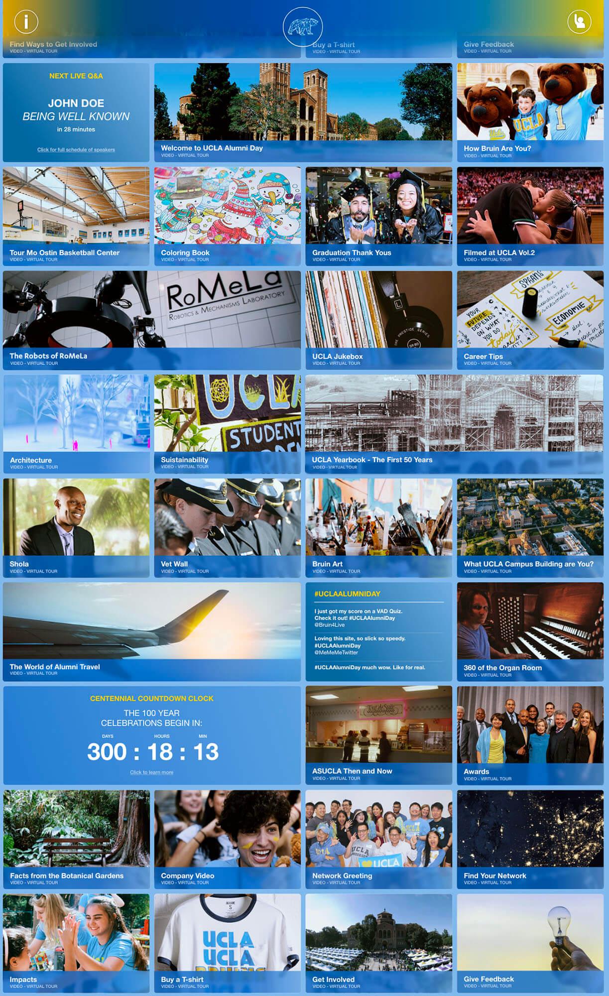 Full homepage screenshot of the award winning Alumni Day Online website.