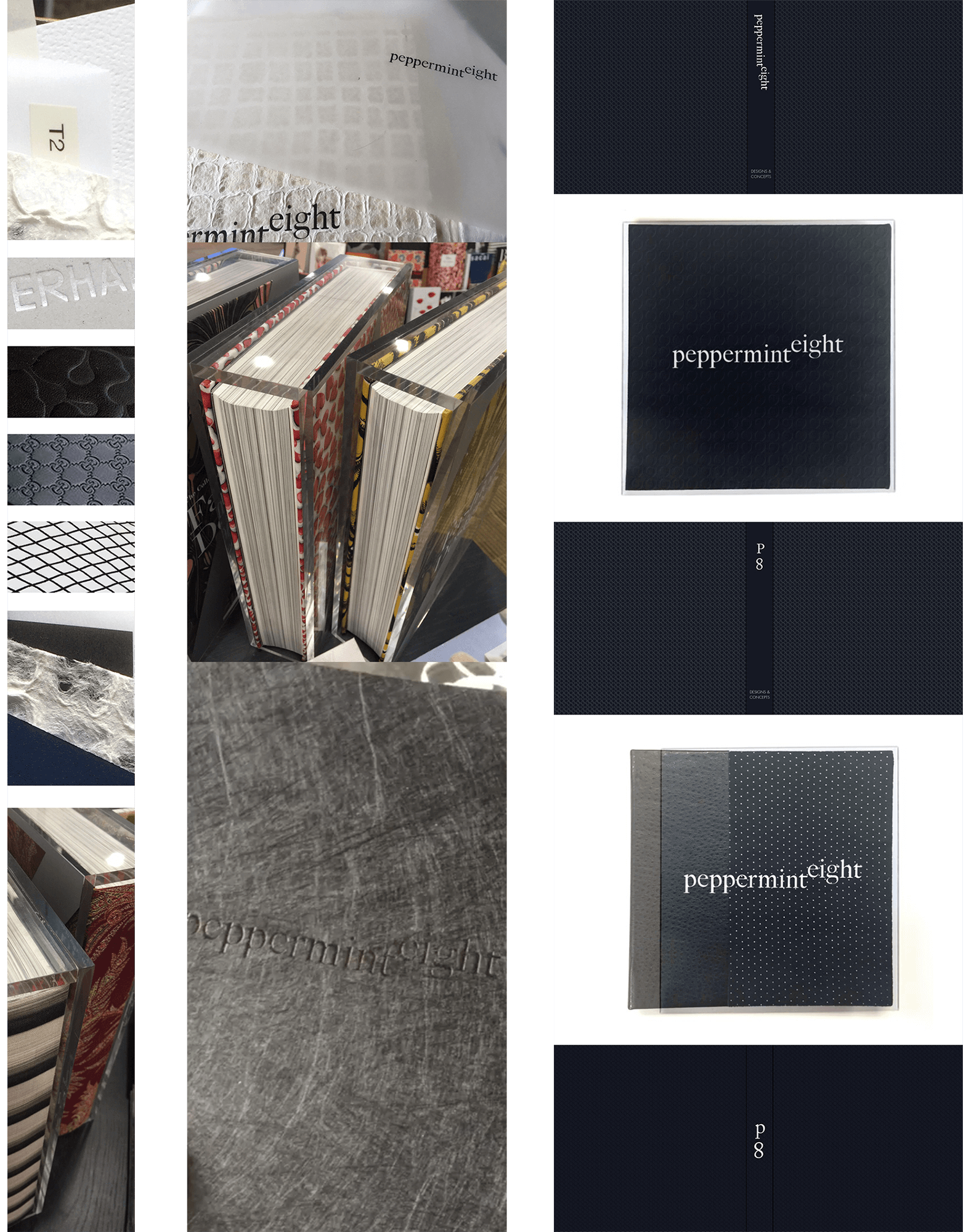 Established local and international manufacturing relationships to adapt that deck in physical portfolio using custom bookbinding, spot UV, acrylic fabrication, dye cuts, 10+ specialty papers and more.