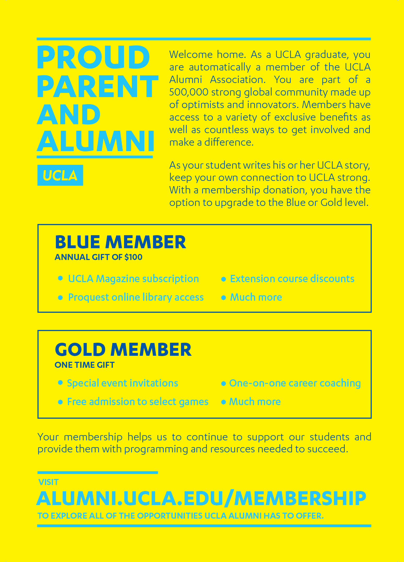 A flyer distributed to parents at a number of events. A pin with the same language was attached to the upper left corner for parents to proudly wear throughout the day.