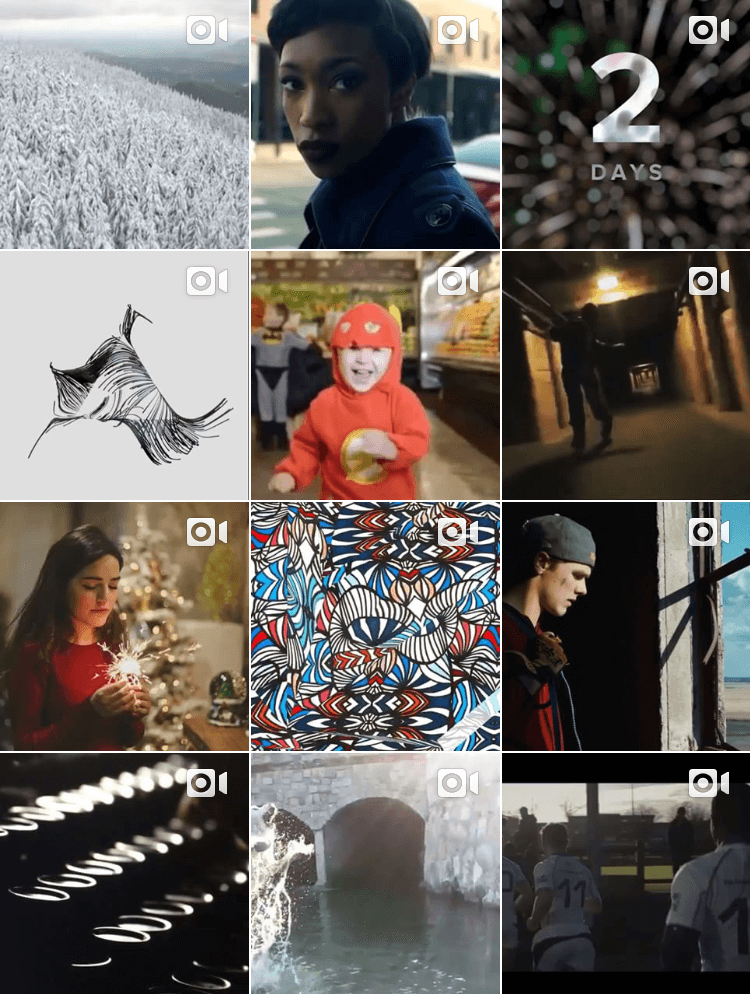 I used  Fancy Footage Club 's instagram page as a space to repost video art from across the web and develop relationships with videographers.
