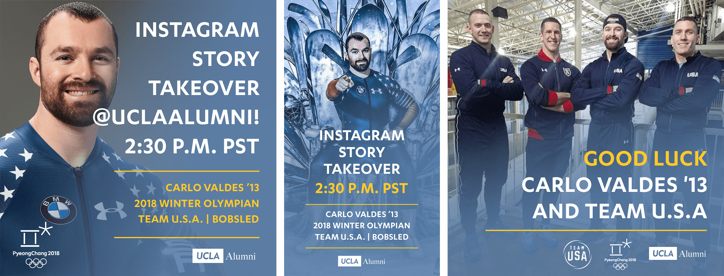 Award winning, multi-channel, social media campaign created in less than 24 hours when an olympic athlete became available for an Instagram takeover.