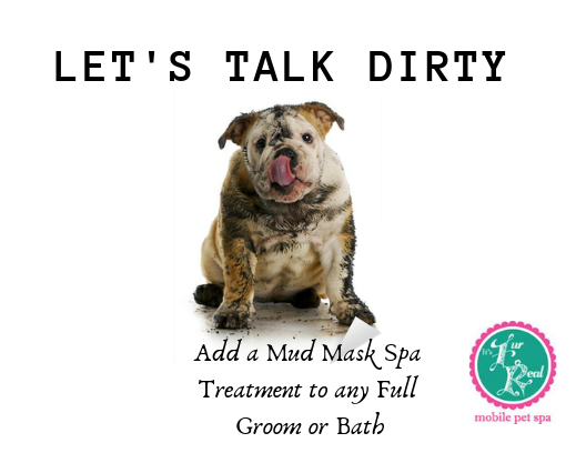 Mud Bath Add On $10.00. Relieves red itchy skin, soothes and remove toxins that cause some irritations.