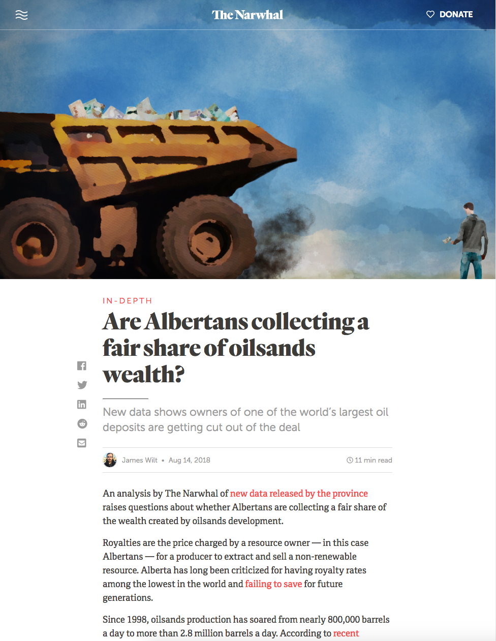 Are Albertans collecting a fair share of oilsands wealth?