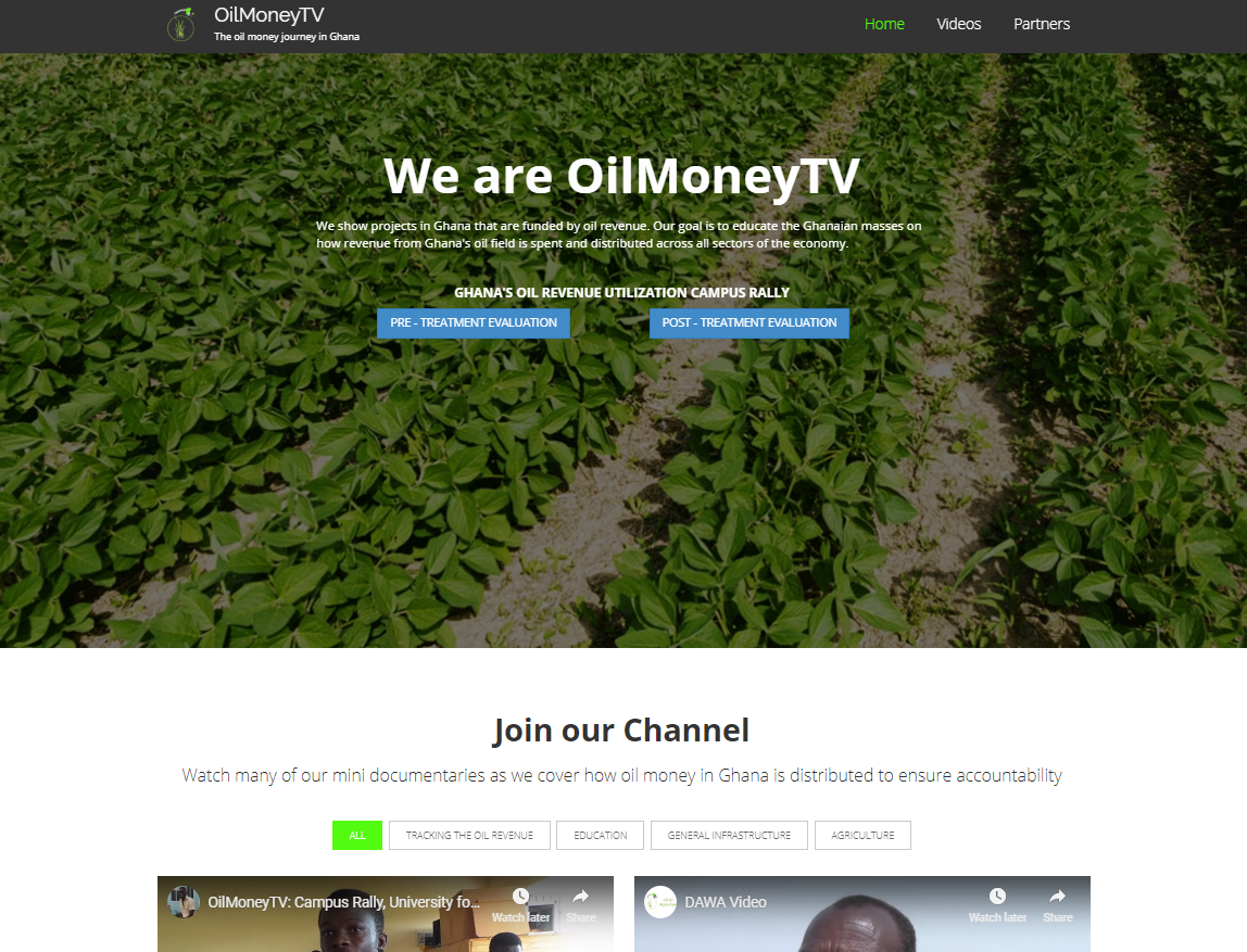 OilMoneyTV: Explore projects in Ghana that are funded by oil revenue.