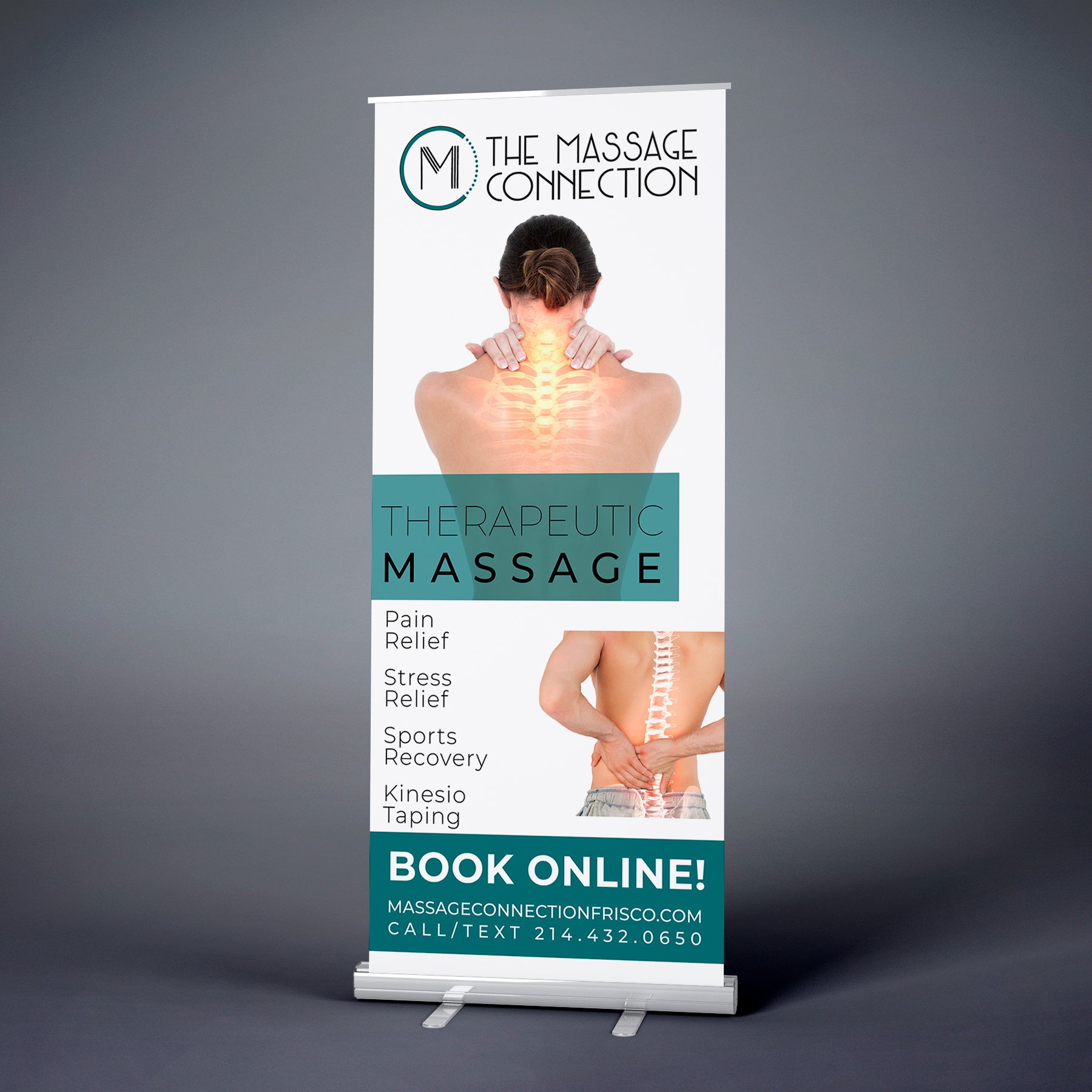 massage banner for chiropractor office