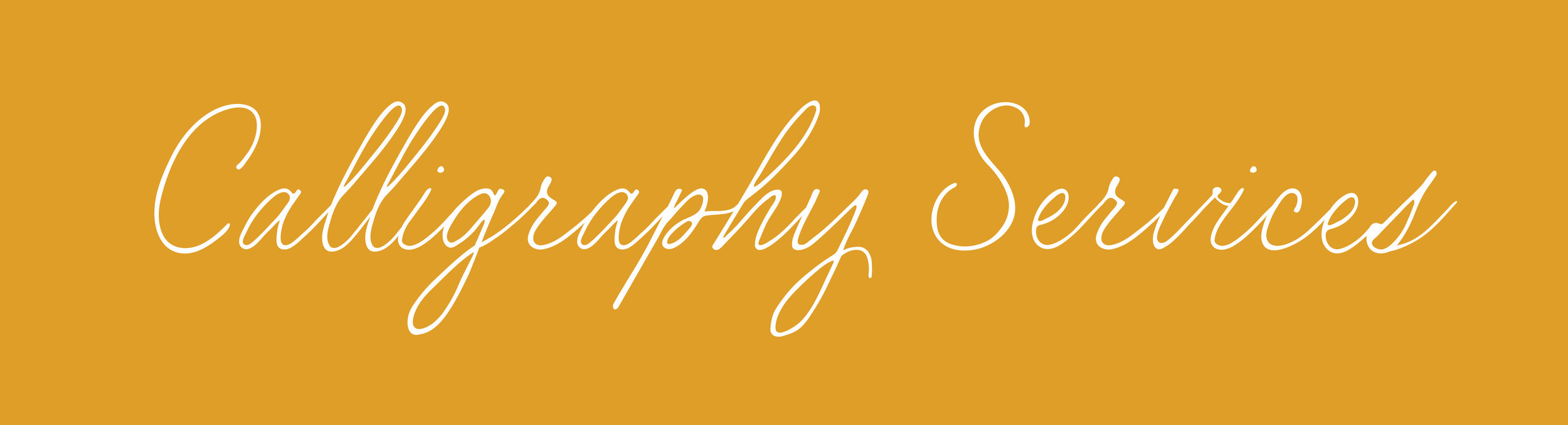 bright yellow background with calligraphy in white handlettered cursive.