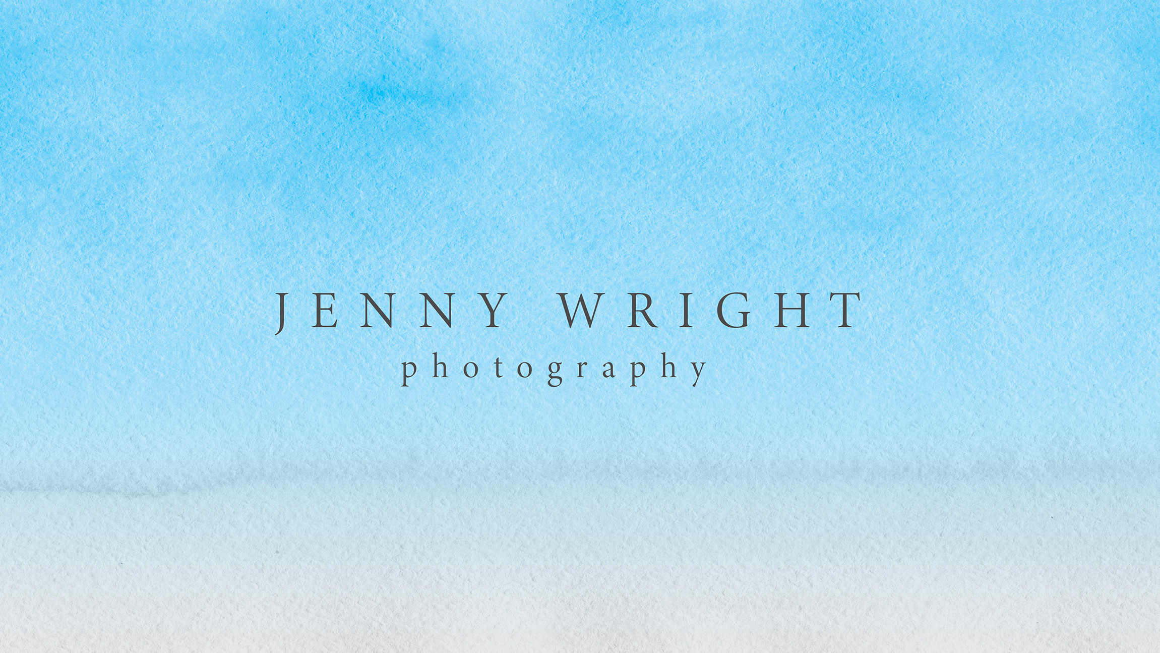 blue watercolor photography logo with black sans serif lettering