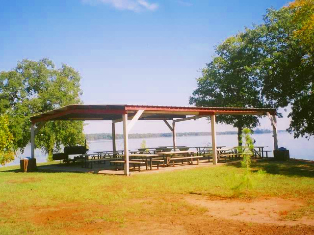 - The outdoor pavilion has picnic tables that can seat up to 80.It also has a good sized cooker.
