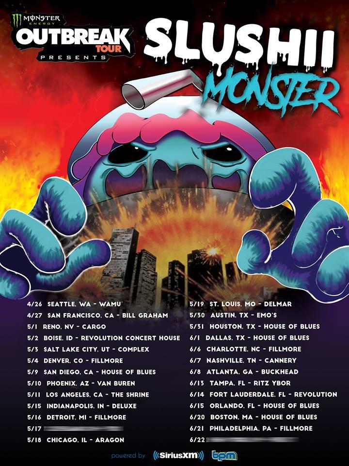 Monster Energy Outbreak Tour Slushii Buckhead Theatre Atlanta EDM