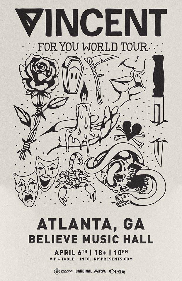 Vincent Wish Lounge Iris Presents Believe Music Hall Atlanta EDM