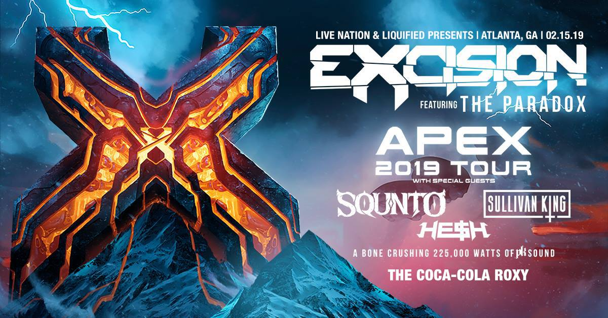 FRIDAY | FEBRUARY 15TH, 2019  EXCISION AT THE COCA-COLA ROXY