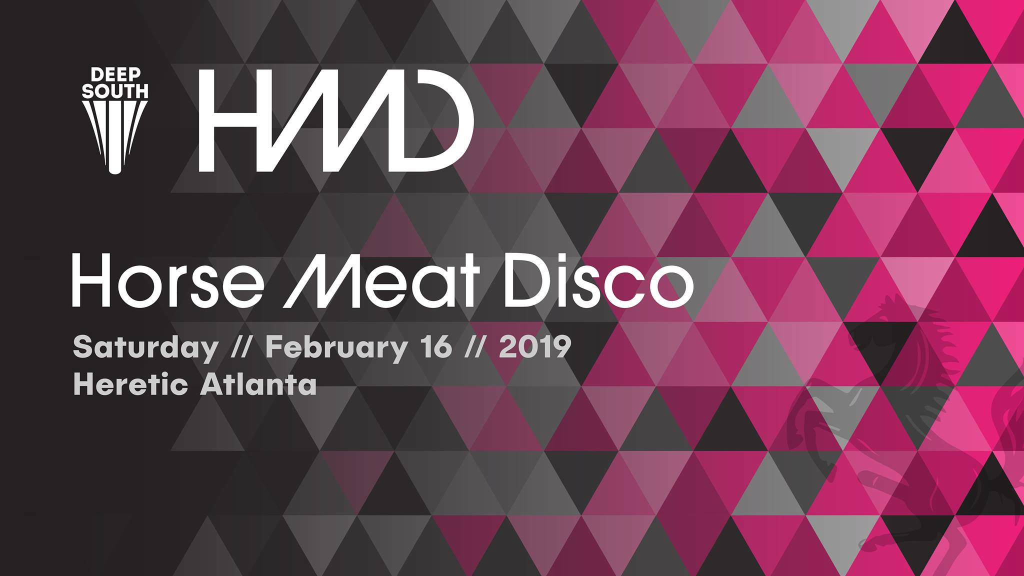SATURDAY | FEBRUARY 16TH, 2019  HORSE MEAT DISCO AT HERETIC