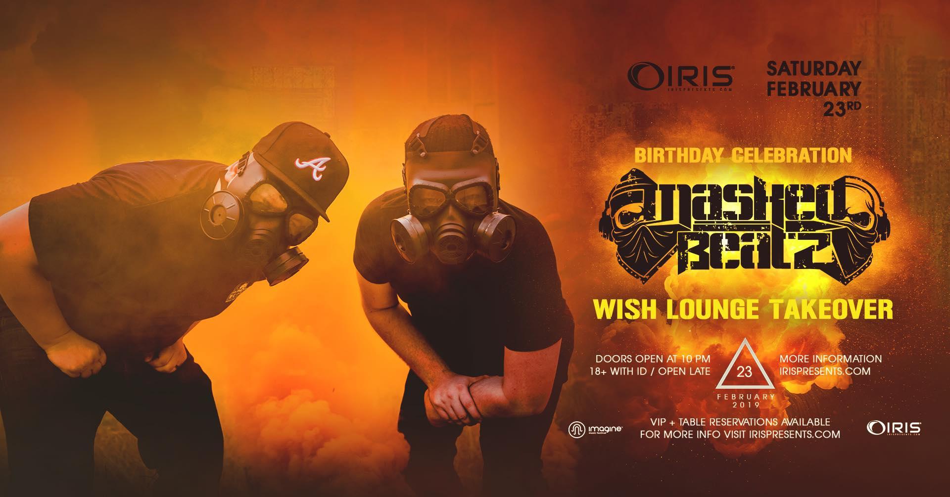 Masked Beatz Iris Presents Wish Lounge Atlanta EDm Concerts Events Shows