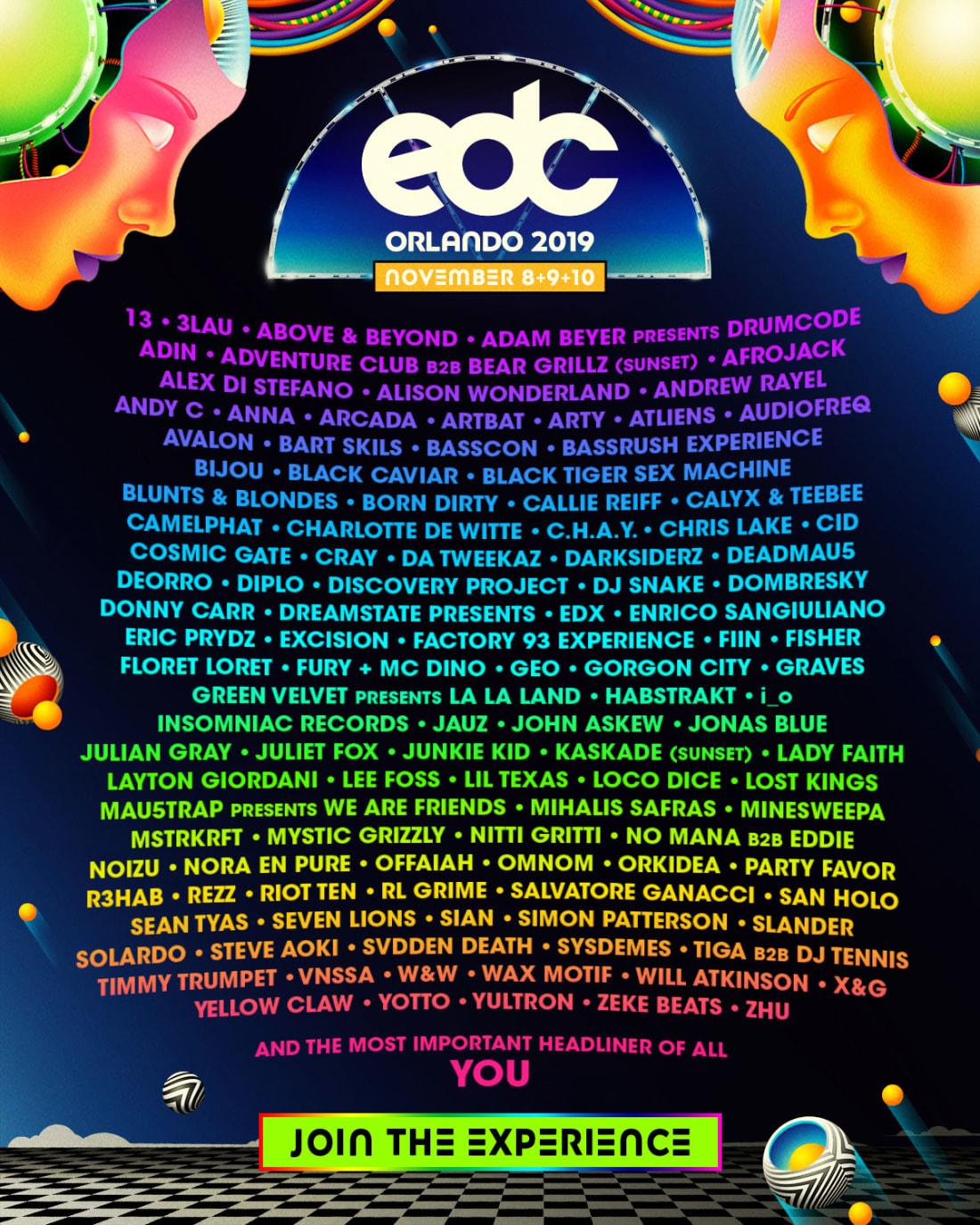 11.8 9 EDC Orlando 2019 Lineup Atlanta EDM Events Shows Concerts Festivals.jpg