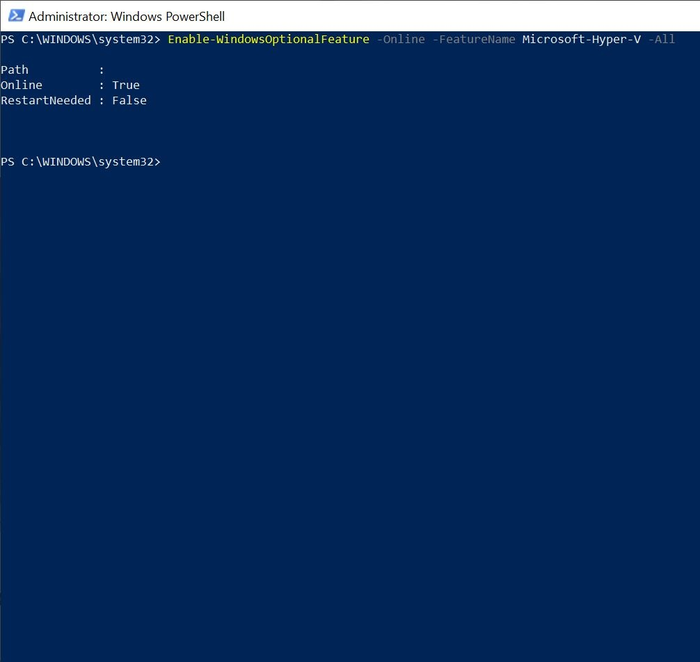 Launch Powershell and User the Enable-WindowsOptionalFeature CMDlet