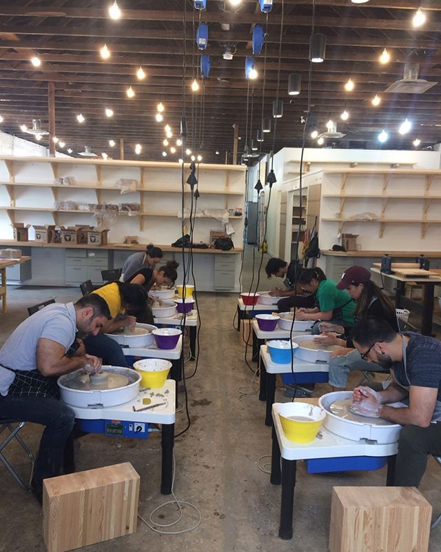 Our inaugural class started this past Sunday! We can't wait to see what this group of folks create over the next 6 weeks.  PS: Level 1 Wheel Throwing will be offered again this fall. Stay tuned for more info! ⭐️⭐️⭐️⭐️⭐️⭐️⭐️ #yeg #exploredmonton #yegcraft #abcraft #yegceramics #yegpottery #wheelthrowing #plainsmanclay