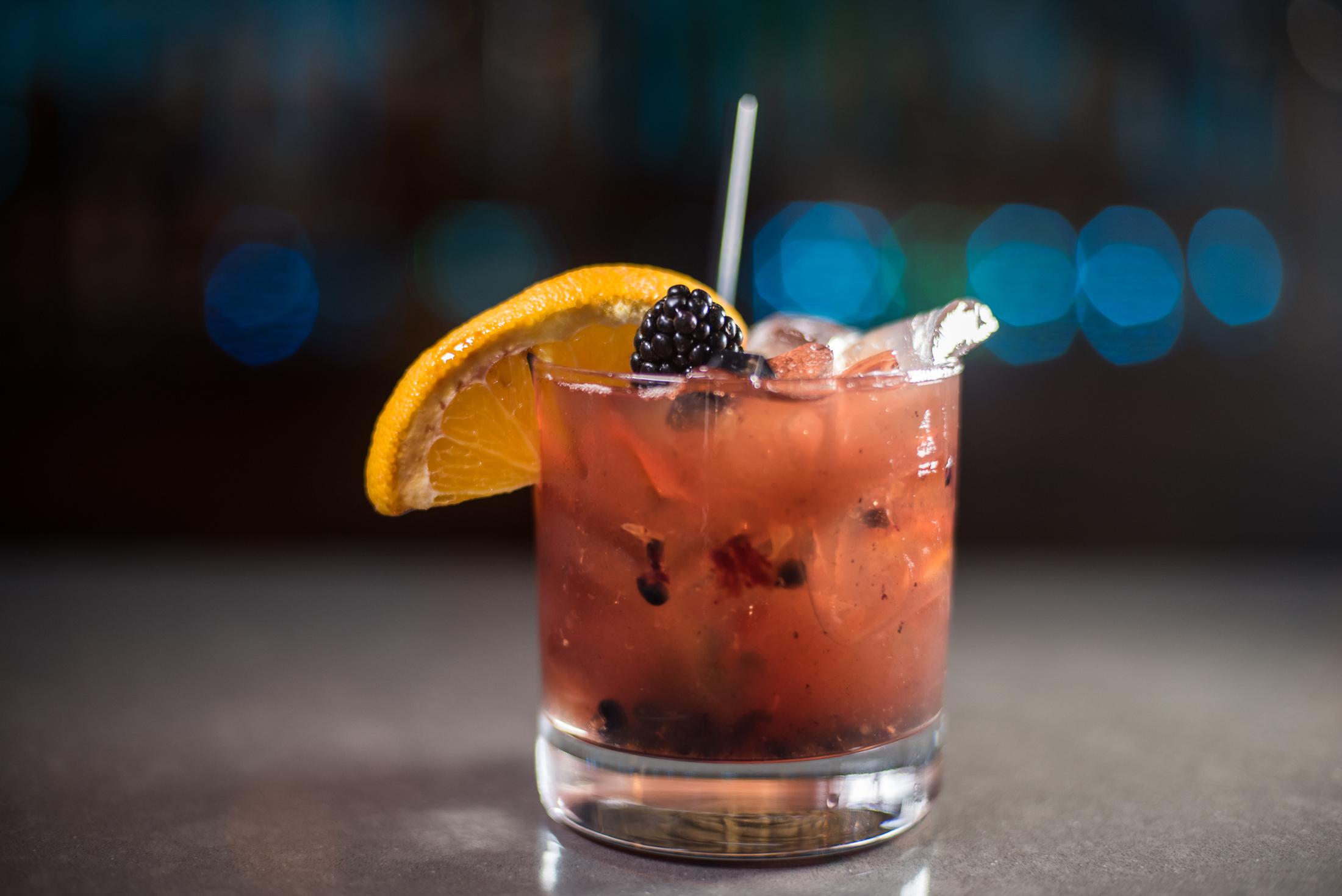 Cran-Old Fashion - Muddled Orange, Cranberries, Luxardo Cherries, Bulleit Bourbon, Bitters$10