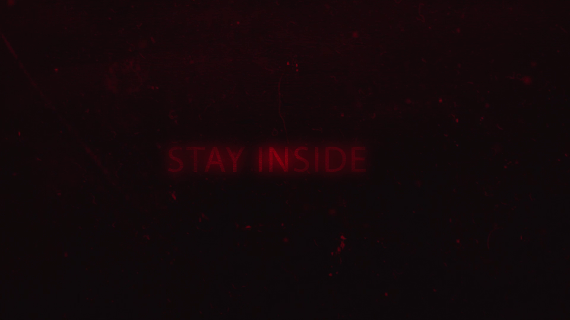 Title screen from the first trailer test screening.