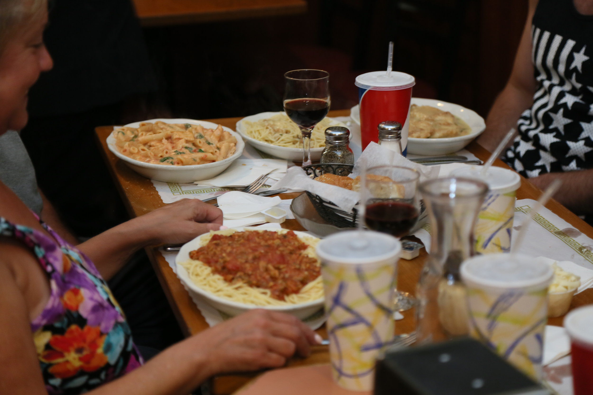 Pasta Night at Aegean Pizzeria of Holbrook