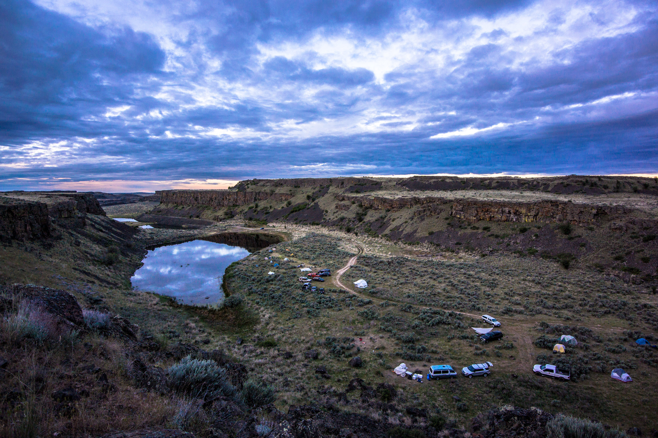 2018 - View of base camp in Eastern Washington