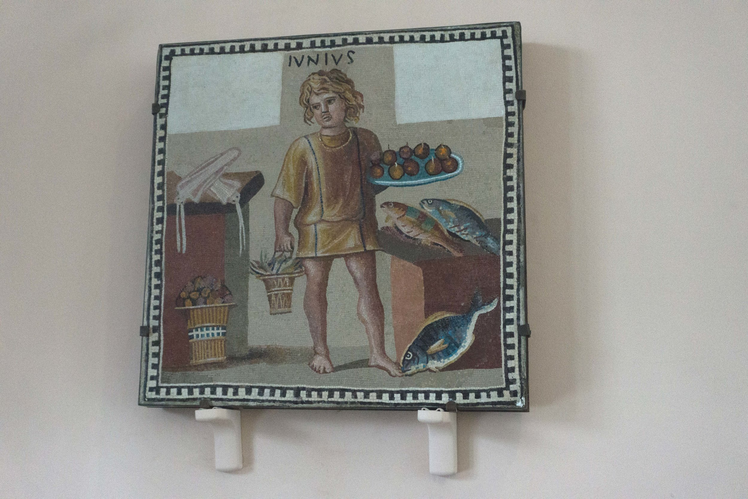 Roman Mosaic of a boy as the month of June 3rd century AD
