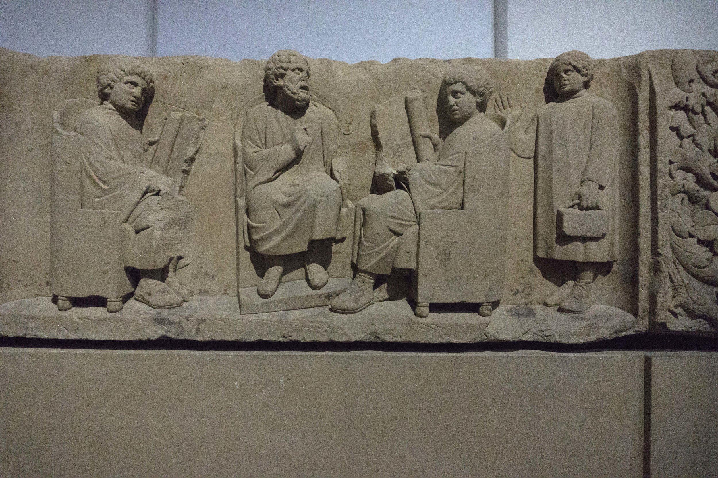 School relief Neumagen c180 AD most famous relief from Neumagen