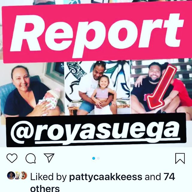 Please report!!! This is NOT Roy. He is @toereroti NOT @royasuega  Do not accept request!! Someone will contact you and threaten you for $$$ or will hurt you and your family.. REPORT REPORT