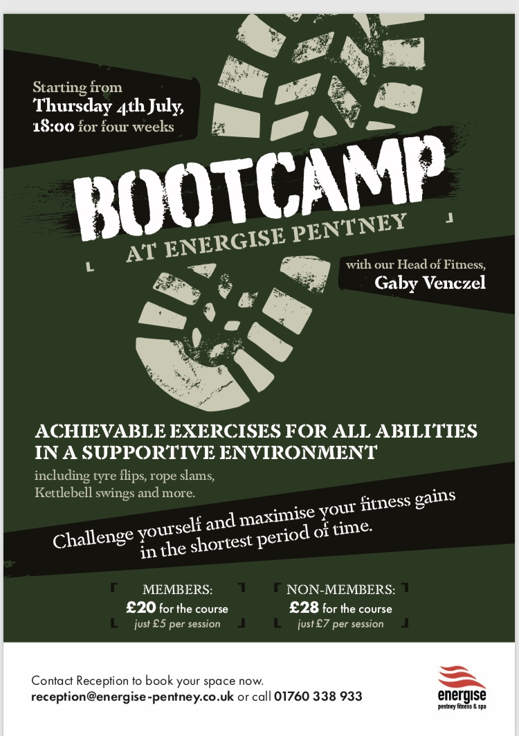 Bootcamp at Energise Pentney