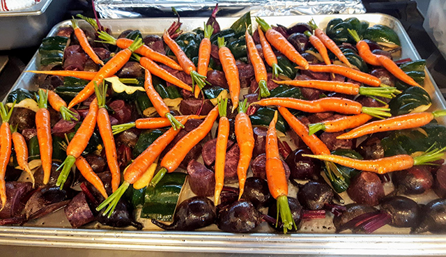 Roasted local beets and carrots