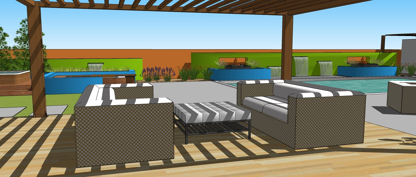 Copy of Bacykard design with pergola in Reno, NV