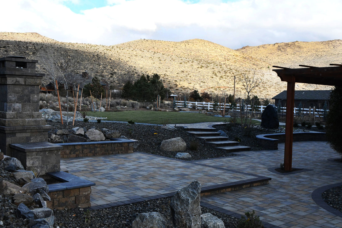 Outdoor living area in Reno, NV with top patio pavers
