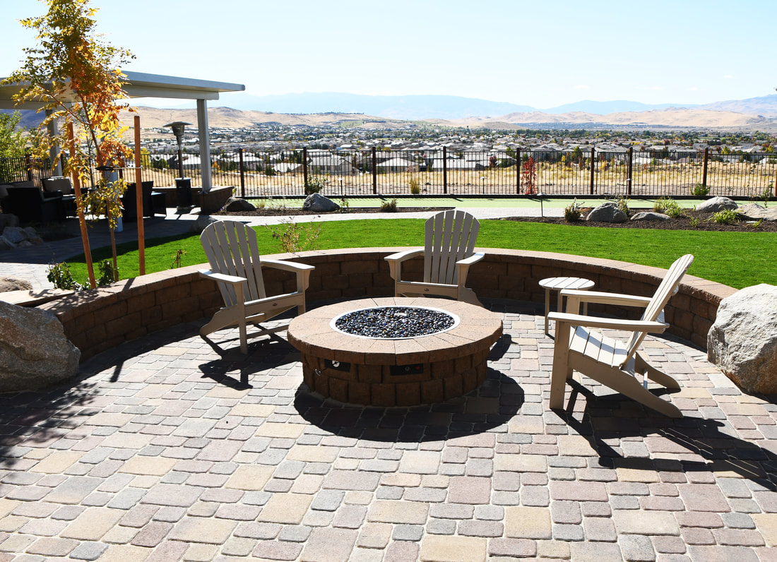 Outdoor fireplace in Reno, Nevada