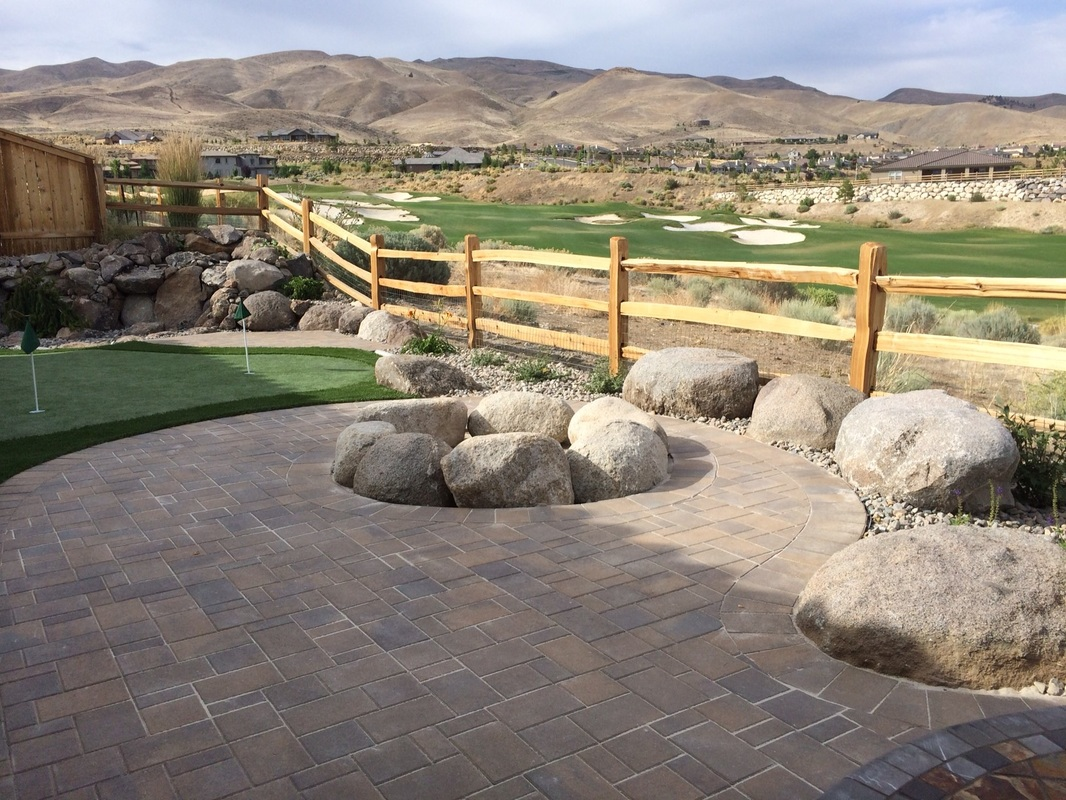 Patio pavers and outdoor fireplace in Reno, NV