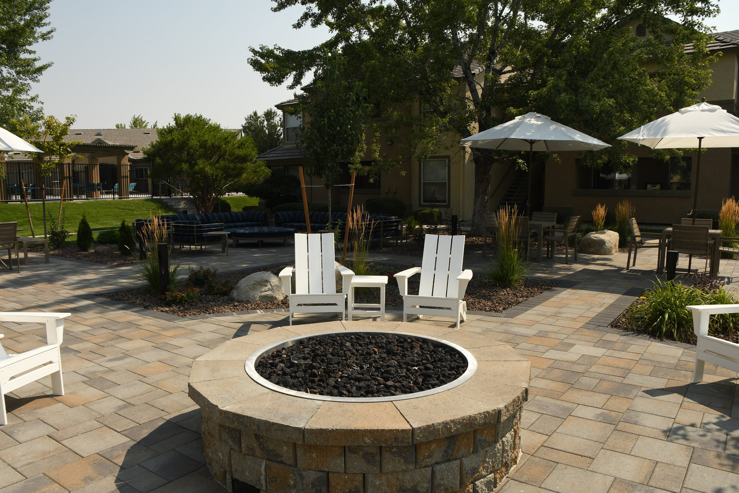 Patio pavers in Reno, NV and outdoor fireplace