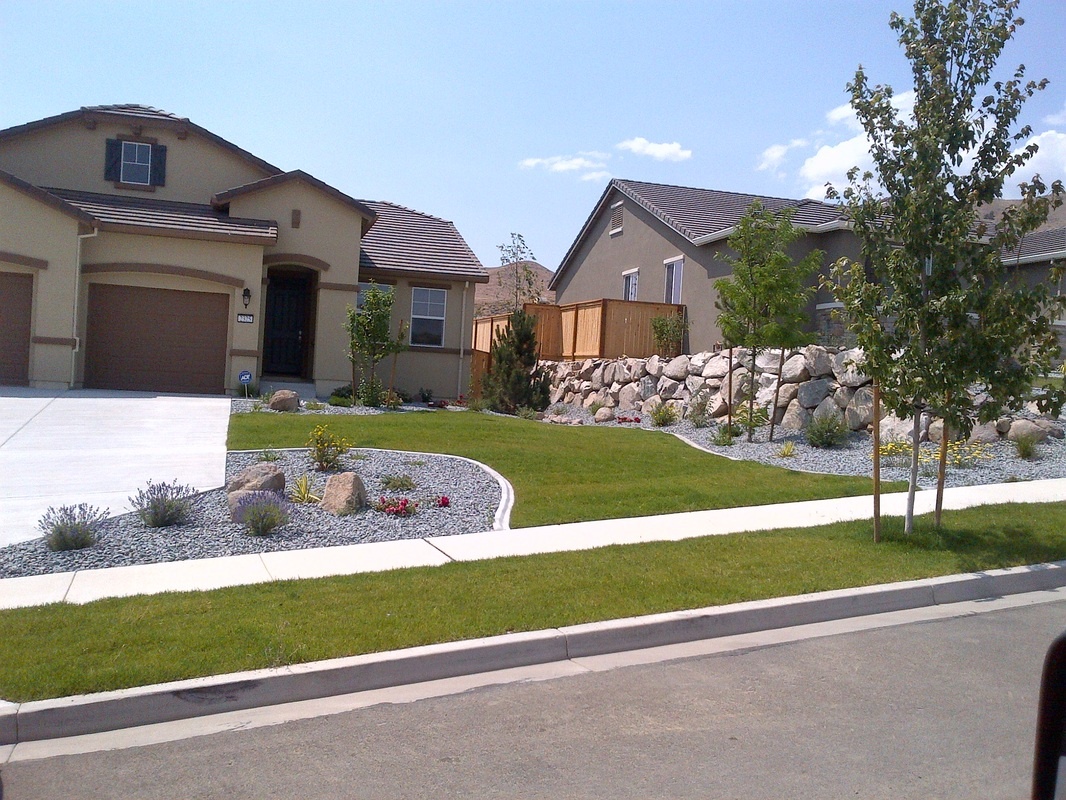 Front yard landscaping by landscape contractors in Reno, NV